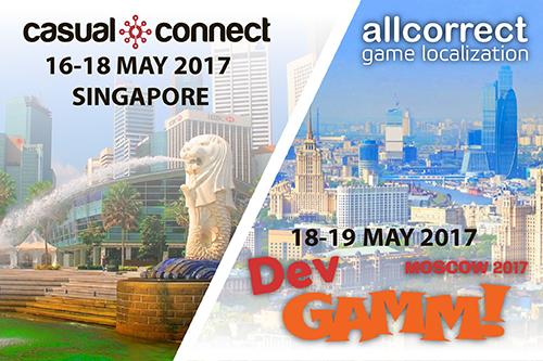 Allcorrect станет участником DevGAMM в Москве и Casual Connect в Сингапуре